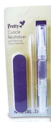 Pretty Nail Treatment Cuticle Revitalizer With Manicure Stick & Nail file (1809)