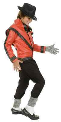 Thriller Jacket Red Black Michael Jackson Pop Star Halloween DLX Child Costume](Thriller Halloween Costumes)