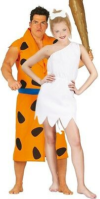 Couples Ladies AND Mens 1960s Cartoon Caveman Fancy Dress Costumes Outfits Large