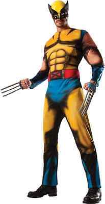 Wolverine X-Men Marvel Comics Superhero Fancy Dress Up Halloween Adult Costume