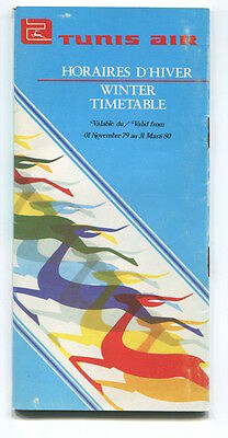 TUNIS AIR TIMETABLE WINTER 1979/80