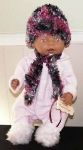 Dolls Knitted Beanie & Scarf Sets: Fits Baby Born NEW Greenwood Joondalup Area Preview