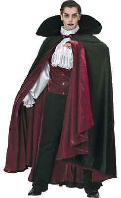 Count of Transylvania Vampire Dracula Fancy Dress Halloween Deluxe Adult Costume - Count Dracula Costumes