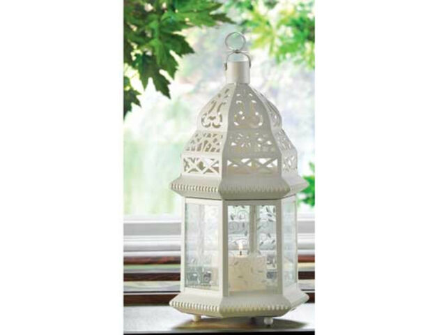 """15 bulk 15"""" tall White Moroccan shabby Candle"""