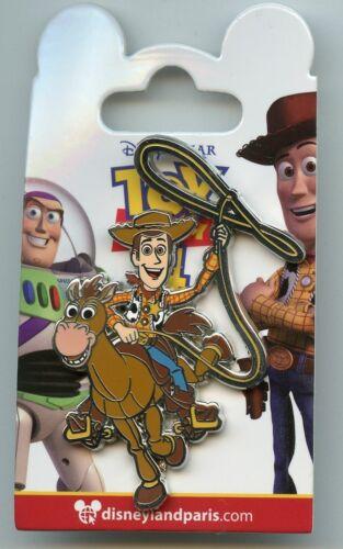 Disney Disneyland Paris Toy Story Woody Riding Horse Bullseye Pin & Card