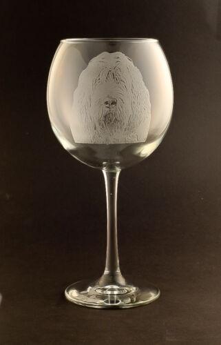 New! Etched Otterhound on Large Elegant Wine Glasses - Set of 2