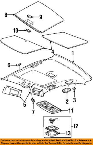 Chrysler Oem Interior Roof Sunvisor Clip 4647896