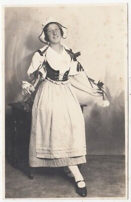 * LADY IN DUTCH FANCY DRESS - by Walkers of Scarborough - c1920s era photograph for sale  Shipping to Nigeria