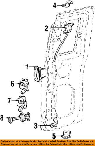 Ford 98 11 Ranger Lock Hardware Rear Door Latch Assembly