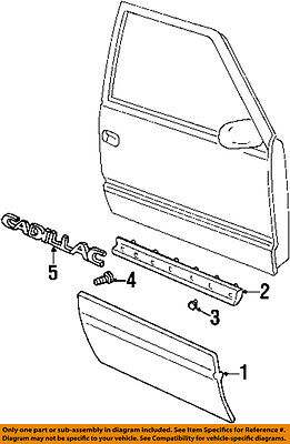 Cadillac GM OEM 99-00 Escalade FRONT DOOR-Body Side Molding Left 12474585