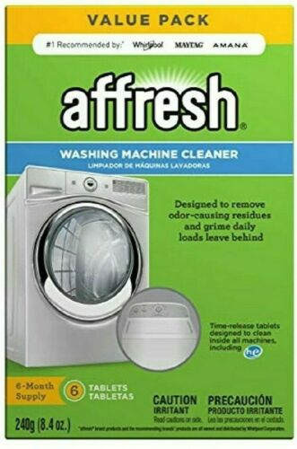 Affresh Washer Machine Cleaner, Fresh, Removes Residues, Slow-Dissolve, 6 Tablet