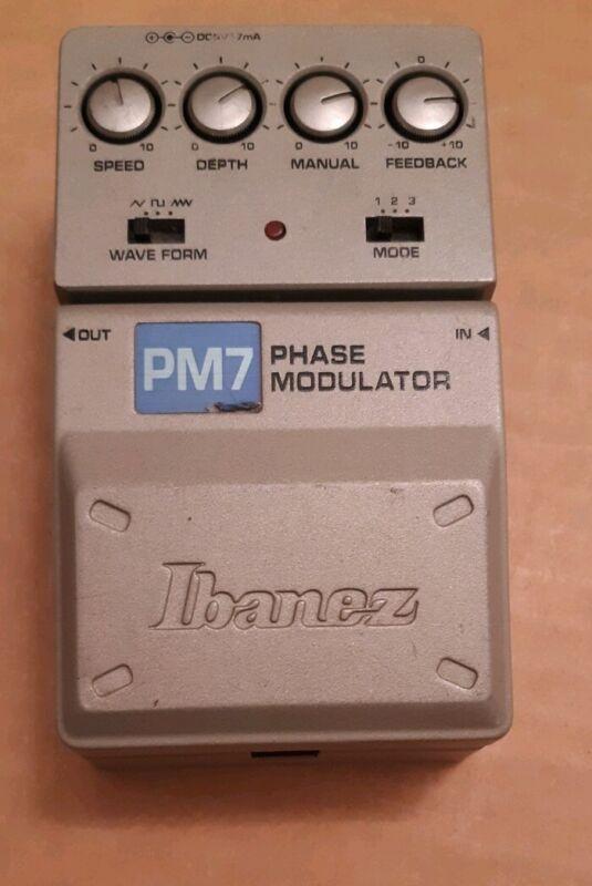 Ibanez PM7 Phase Modulator guitar pedal effect PM 7 Tone Lok