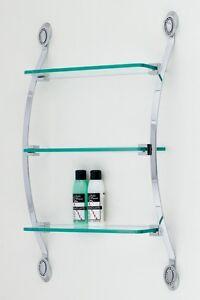 ripiani scaffale mensole per bagno in vetro e