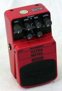 Behringer UM300 Ultra Heavy Metal Distortion Guitar Effects Stomp Box Pedal
