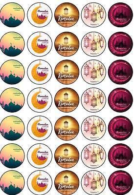 35 Ramadan Mubarak Kareem Fasting Islamic Cup Cake Edible Toppers Decoration