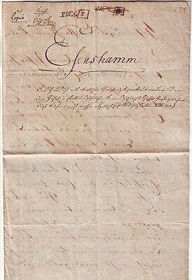 Alter handgeschriebener Brief  an den Fürsten   1805  Esenshamm  Nordenham