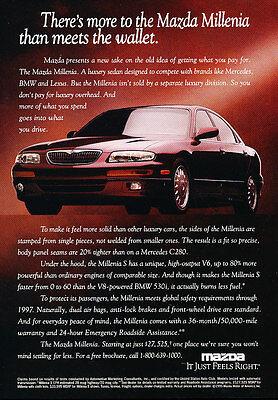 1995 Mazda Millenia - Wallet - Classic Vintage Advertisement Ad D186