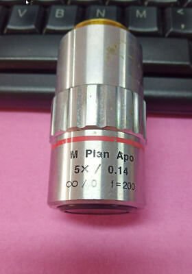 One Mitutoyo M Plan Apo 5x 0.14 Microscope Objective Lens F200