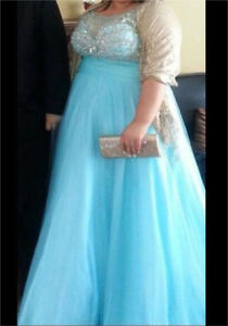 Light blue graduation dress