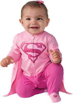 Supergirl Jumper Pink DC Superhero Fancy Dress Up Halloween Baby Child Costume