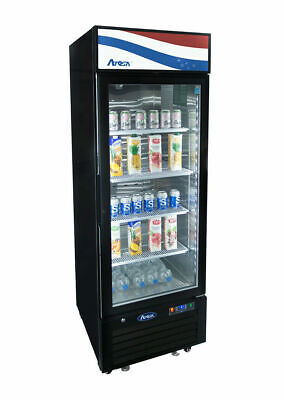 Atosa 1 One Door 11cf Glass Display Cooler Refrigerator Mcf8725gr Free Lift Gate