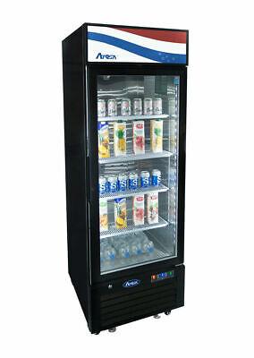 Atosa 1 One Door 11cf Glass Soda Display Cooler Refrigerator Mcf8725gr Free Lift