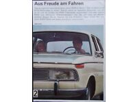 BMW Modellprogramm 1966-1600 ti tilux CS R69S ti 2000 IX//66 1800