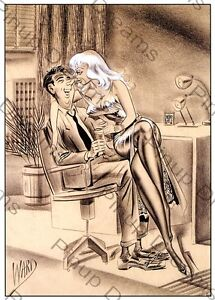 Classic 1940s/50s Vintage Art of Bill Ward Pin-up Poster ...