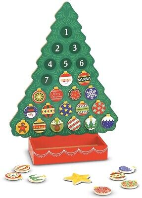 Melissa & Doug Countdown to Christmas Wooden Advent Calendar With 25 Magnets