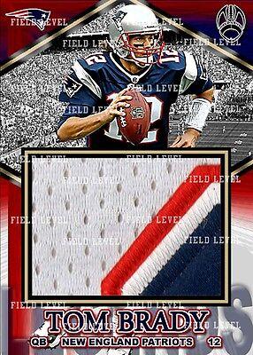 Tom Brady New England Patriots Custom Hand Made Jersey Patch Relic