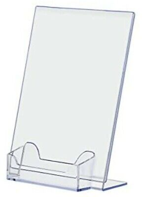 5 X 7 Acrylic Sign Display Picture Frame With Business Card Holder 24 Pieces