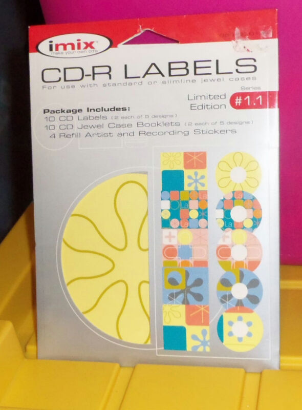 IMIX CDR LABELS for Use with Standard or Slimline Jewel Cases-LIMITED ED.2002