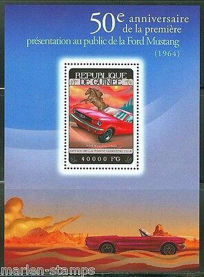 GUINEA 2014 50th   ANNIVERSARY OF THE FORD MUSTANG SOUVENIR SHEET MINT NH
