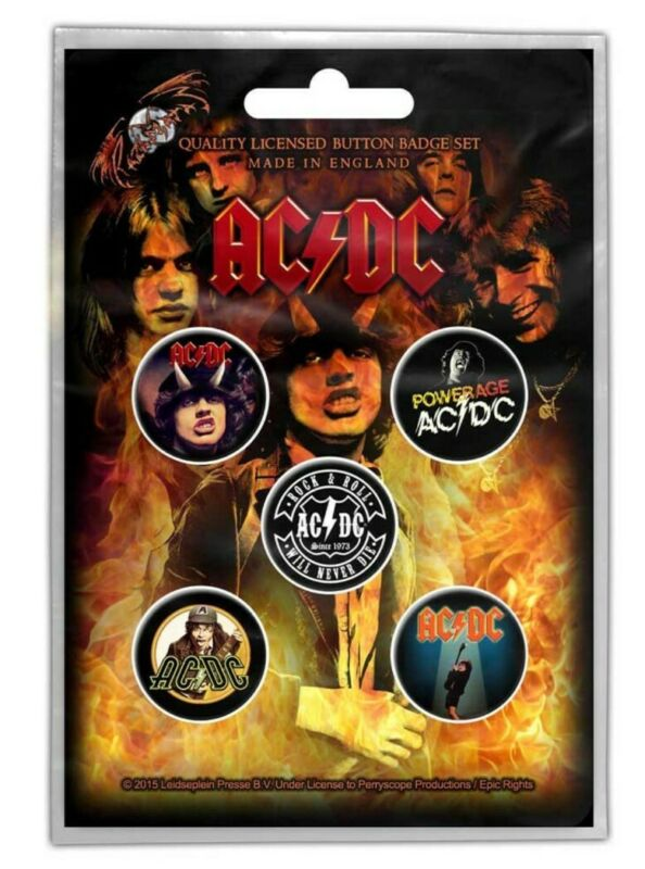AC/DC Highway to Hell Button Badge Pack Official Licensed