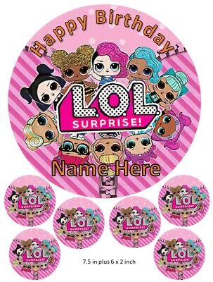 LOL Surprise Doll Cake Toppers, Personalised, Diva, Kitty Queen, Queen Bee, Baby