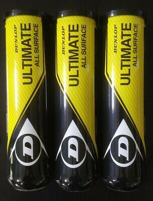 BRAND NEW Dunlop Ultimate All Surface Tennis Balls - 12 Premium Balls - 1 Dozen