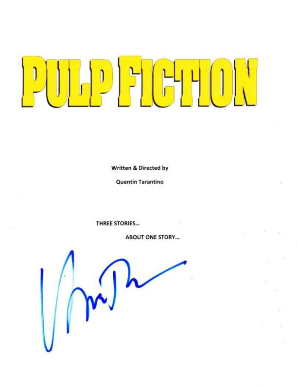 UMA THURMAN SIGNED FULL PULP FICTION SCRIPT AUTHENTIC AUTOGRAPH COA