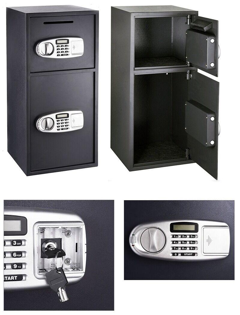 Buy Cheap Digital Double Door Safe Depository Drop Box Gun