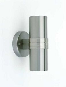 d mmerungsschalter wandleuchte wandlampe sensor edelstahl up down auf ab2202 ebay. Black Bedroom Furniture Sets. Home Design Ideas