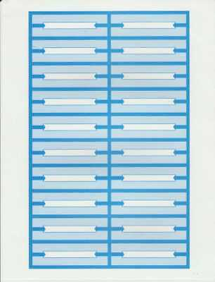 240 BLUE PERFORATED OPERATOR JUKEBOX TITLE STRIPS NO RESERVE HEAVY CARD STOCK!!