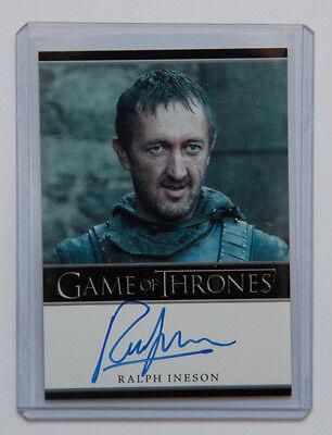 Game of Thrones Season 2 Ralph Ineson Dagmer Cleftjaw auto autograph card