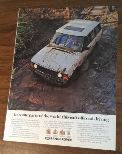 1991 1 PAGE ADVERTISEMENT Range Rover this isn