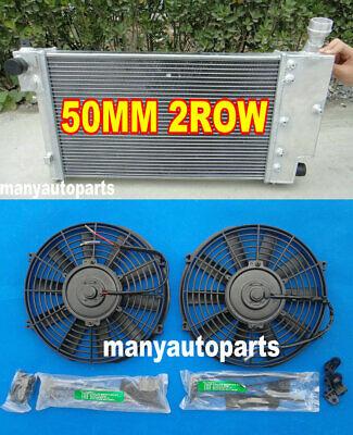 FOR PEUGEOT 106 GTI&RALLYE//CITROEN SAXO/VTR 1991-2001 ALUMINUM RADIATOR+FANS