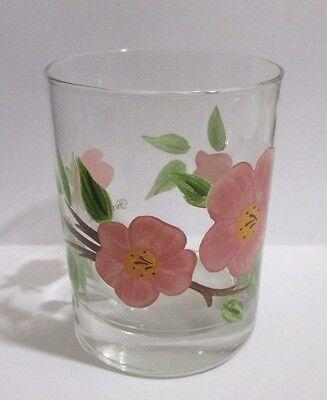 Double Old Fashion Glassware - Franciscan Desert Rose Glassware Double Old Fashioned 12oz Tumbler Glass 4 1/8