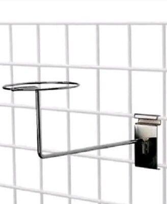 10 Hat Racks W Covers Wire Grid Wall Cap Slat Panels Chrome Display Hook