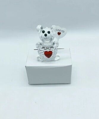 Brand New Lovely teddy bear Crystal I Love You Best Gift For Your