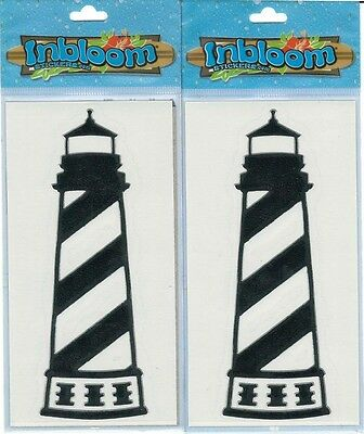Inbloom Stickers (St. Augustine Lighthouse Black Vinyl Stickers Chrome Border Inbloom Stickers)