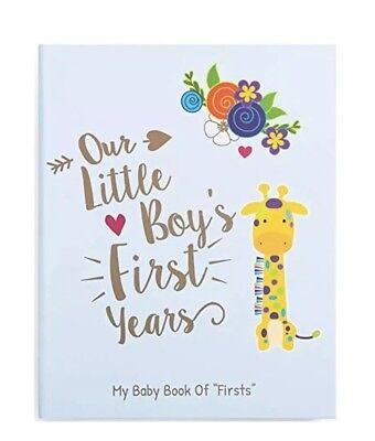 Memory Book Journals For Baby Boy, Photo Album, Easy To Use Keepsake (Keepsake Memory Book)