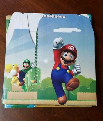 Super Mario Favor Boxes (10 Super Mario Bros Party Favor Boxes Treat Loot Bags Candy Bags Party)