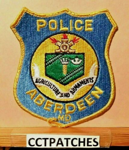 ABERDEEN, MARYLAND POLICE SHOULDER PATCH MD